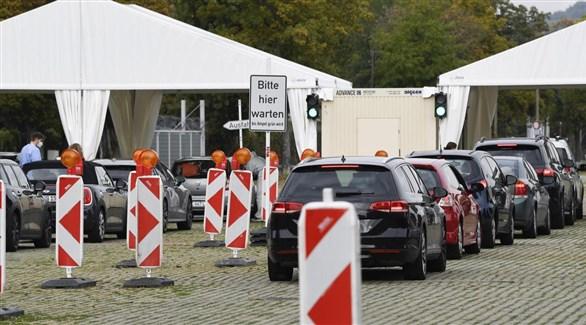 مركز ألماني لكشف كورونا من السيارة (أرشيف)
