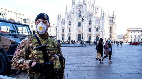 عسكري إيطالي في ساحة دومو بميلانو (أرشيف)