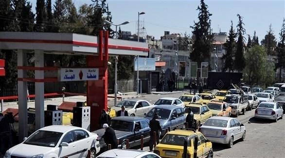 سيارات في محطة وقود سورية (أرشيف)
