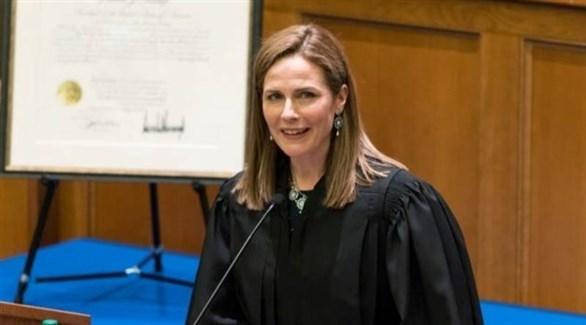 مرشحة ترامب للمحكمة الأمريكية العليا القاضية إيمي باريت (أرشيف)