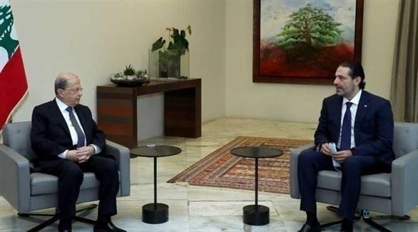 الرئيس اللبناني ميشال عون ورئيس الوزارء السابق سعد الحريري (أرشيف)
