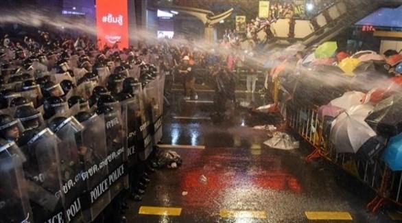 مواجهة بين الأمن والمتظاهرين في تايلاند (أرشيف)