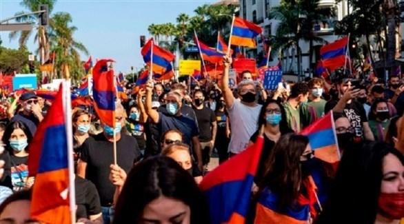 متظاهرون أرمن في أمريكا ضد أذربيجان (أرشيف)