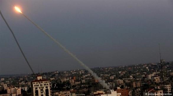صاروخ أطلق من غزة صوب إسرائيل (أرشيف)