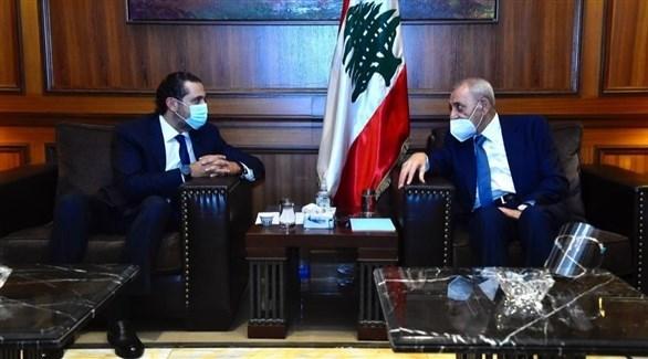 رئيس الحكومة المكلف سعد الحريري ورئيس مجلس النواب نبيه بري (تويتر)