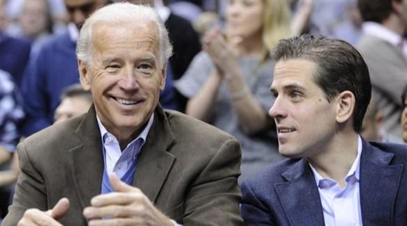 المرشح الديموقراطي للانتخابات الرئاسية الأمريكية جو بايدن وابنه هانتر (أرشيف)