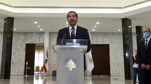 الحريري متحدثاً بعد تكليفه رسمياً بتشكيل الحكومة في بعبدا، لبنان (اي بي ايه)