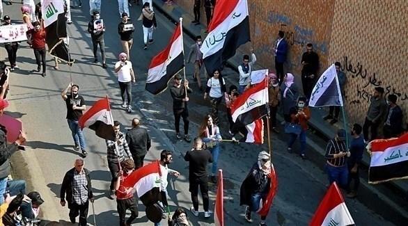 متظاهرون عراقيون يستعدون لإحياء