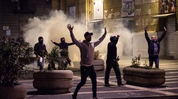 مظاهرات وأعمال عنف في نابولي (أرشيف)
