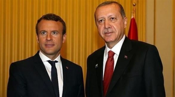 الرئيس التركي أردوغان ونظيره الفرنسي ماكرون (أرشيف)