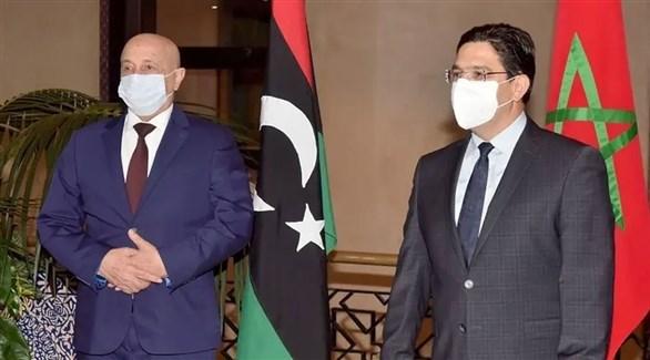 وزير الخارجية المغربي رئيس مجلس النواب الليبي (أرشيف)