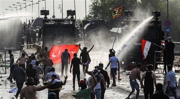 مصادمات بين القوات الأمنية العراقية ومتظاهرين في مدينة الحلة (أرشيف)