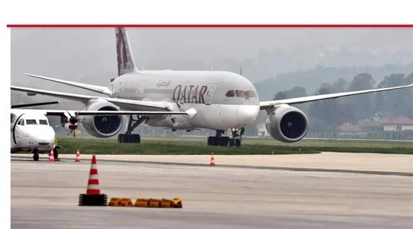 طائرة تايعة للخطوط الجوية القطرية.(أرشيف)