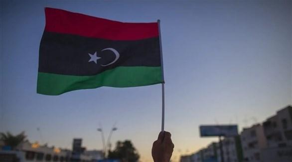 العلم الليبي مرفوعاً في أحد التجمعات (أرشيف)
