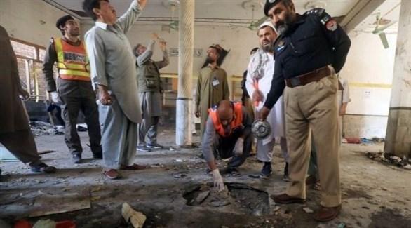 آثار الهجوم الإرهابي في باكستان (أرشيف)