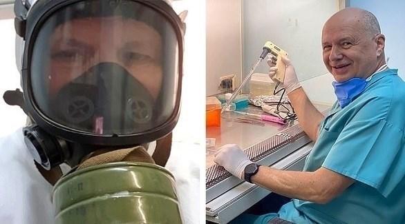 الدكتور ألكسندر تشيبورنوف يدرس الأجسام المضادة لكورونا (ديلي ميل)