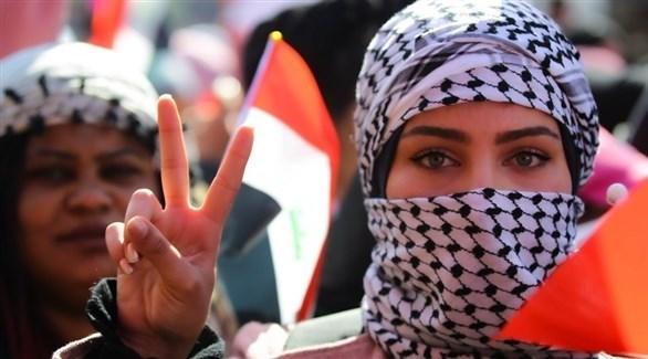 عراقية في ساحة التحرير ببغداد (أرشيف)