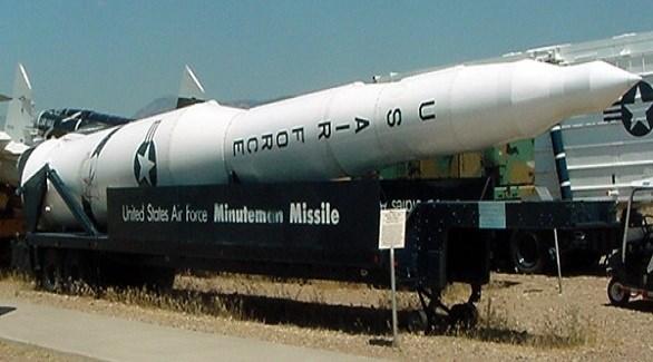 صاروخ باليستي أمريكي عابر للقارات من طراز مينوتمان 3 (أرشيف)