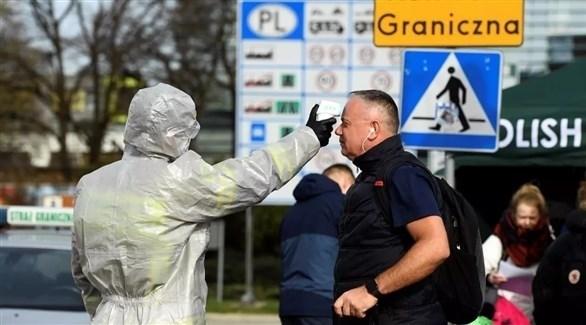 نقطة طبية على الحدود بين بولندا وألمانيا (أرشيف)