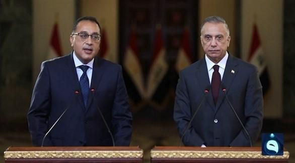 رئيس الوزراء العراقي الكاظمي ونظيره المصري مدبولي (أرشيف)