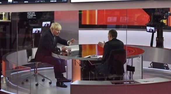 جونسون مشاركاً في البرنامج التلفزيوني (بي بي سي)