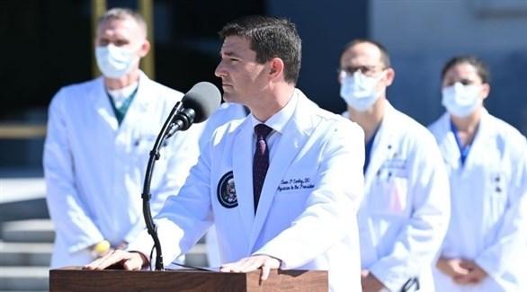 الفريق الطبي المعالج للرئيس الأمريكي دونالد ترامب (تويتر)