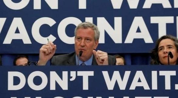 رئيس بلدية نيويورك بيل دي بلازيو (أرشيف)
