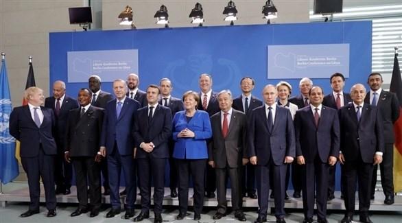 صورة جماعية لزعماء الدول المشاركة في مؤتمر برلين حول ليبيا (أرشيف)