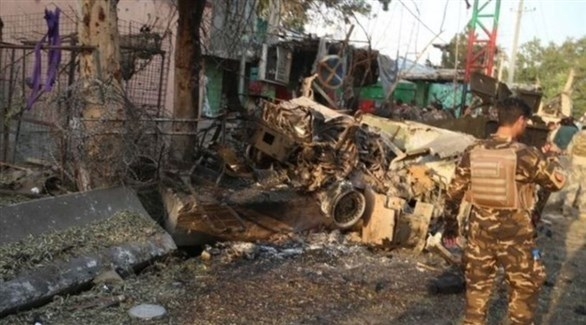 آثار هجوم انتحاري سابق في أفغانستان (أرشيف)