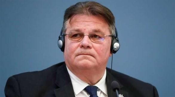 وزير الخارجية الليتواني ليناس لنكيفيشيوس  (أرشيف)