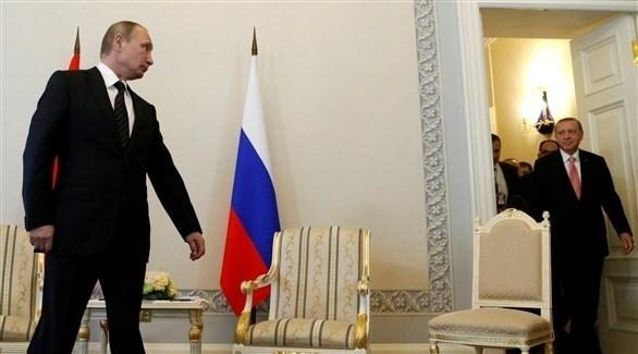 بوتين مستقبلاً أردوغان (أرشيف)