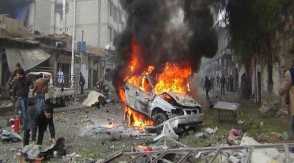 انفجار سابق لسيارة في الباب السورية (أرشيف)