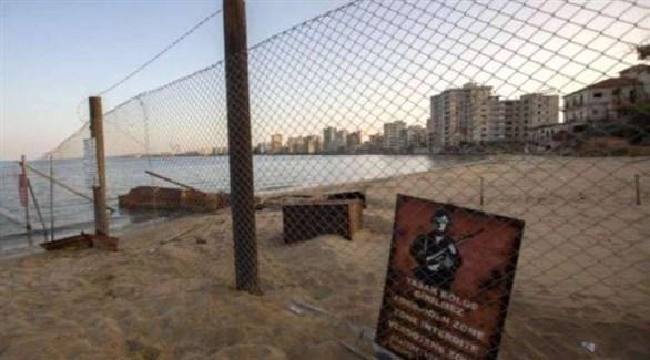 شاطىء فاروشا القبرصية المهجور منذ الغزو التركي (أرشيف)