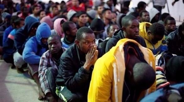 مهاجرون أفارقة معتقلون في ليبيا (أرشيف)