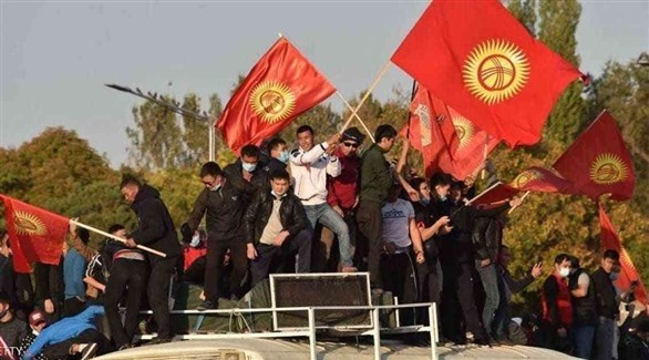 متظاهرون في بشكيك عاصمة قيرغيزستان (أرشيف)