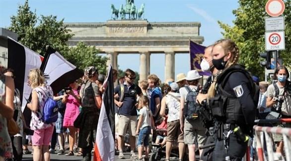 احتجاجات ضد إجراءات كورونا في برلين (أرشيف)