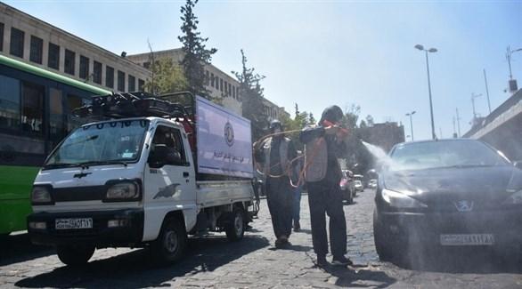 تعقيم شارع بسوريا (إ ب أ)