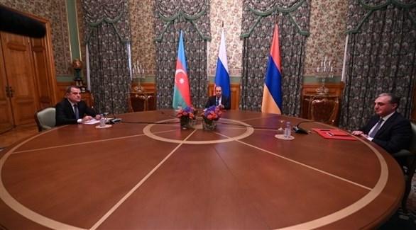 وزير خارجية روسيا يستضيف نظيريه الأذري والأرميني (تويتر)