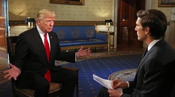 الرئيس الأمريكي دونالد ترامب خلال مقابلة تلفزيونية (أرشيف)