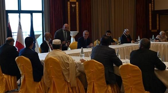 وفد من أعضاء مجلس النواب الليبي في مالطا (أرشيف)