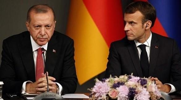 ماكرون وأردوغان (أرشيف)