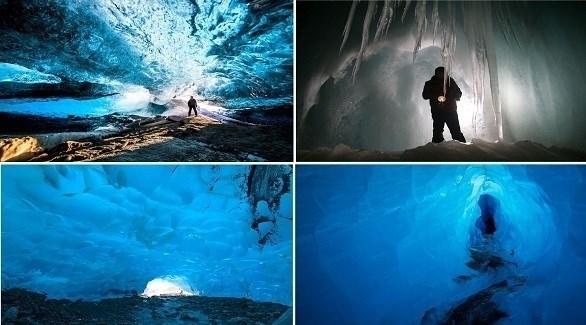أغرب الكهوف الجليدية في العالم (ميرور)