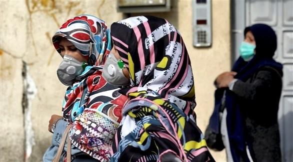 إيرانيات يرتدين الكمامات في شوارع طهران (أرشيف)