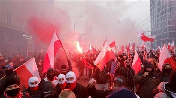 جانب من التظاهرات في وارسو (أرشيف)