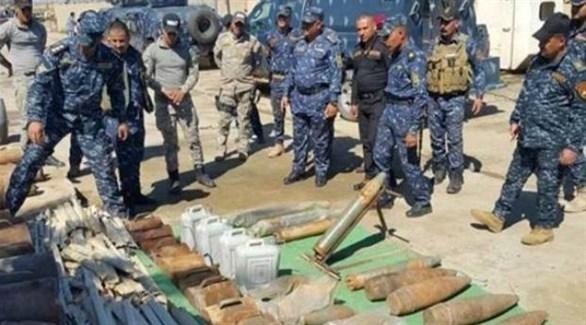 أسلحة عثر الجيش العراقي في أحد مخابىء تنظيم داعش (أرشيف)
