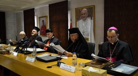 أعضاء في مجلس البطاركة والأساقفة الكاثوليك في لبنان (أرشيف)