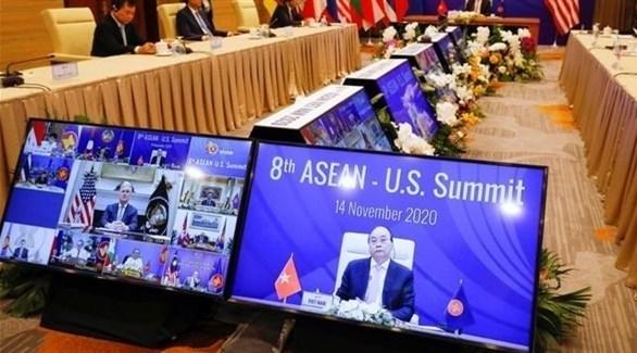 جانب من اجتماع منظمة آسيان (تويتر)