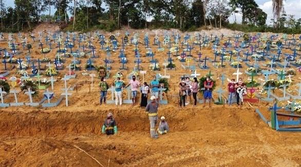 دفن وفيات كورونا في البرازيل (أرشيف)