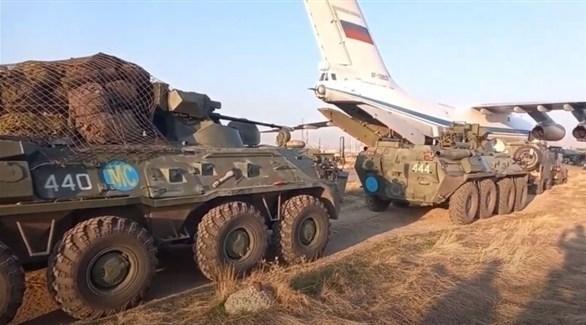 وصول طائرة نقل عسكرية روسية إلى أرمينيا (روسيا اليوم)