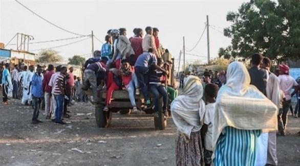 لاجئون إثيوبيون في طريقهم للسودان (أرشيف)